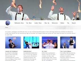 Website vom Zauberer Sune Pedersen