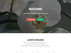 Website Waxingstudio Waxime